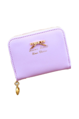 JOR Hot Sale Fashion Lady Women Pu Leather Wallet Zip Around Wallet Card Holder Handbag (Purple)