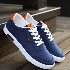 JOY Low To Help Men Canvas Shoes (Blue) - INTL