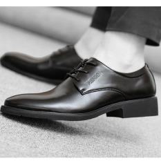 JOY Men's Business Casual Dress Shoes Breathable Black - Intl