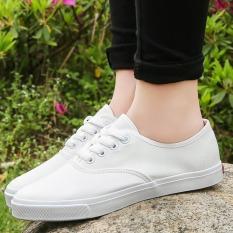 JOY White Canvas Shoes Shoes White