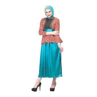Jual Sarimbit / Busana Muslim Couple Batik Wanita | Inficlo - SHJ 718 | WARNA : MOTIF | BAHAN : SILKY