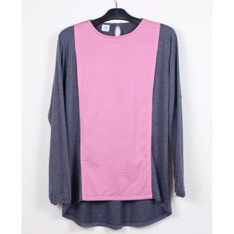 Just Mom Baju Menyusui GEA 120, Pink pattern, Misty grey