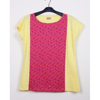 Just Mom Baju Menyusui Orianna 141 Yellow Pink Flower