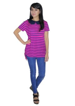 Just Mom Tanaya Baju menyusui Short sleeve – Pink