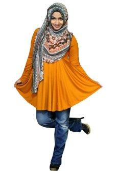 Kampung Souvenir - Atasan Basic Benazir - Orange