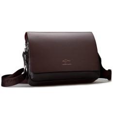 Kangaroo Kingdom Male Shoulder Bag Genuine Leather Business Bag For Men (Horizontal Version) (Medium)