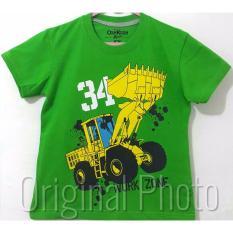 Kaos Anak Karakter - Tractor Green