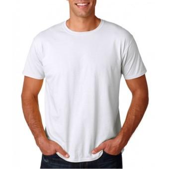Kaos Oblong Polos Lengan Pendek O-Neck Unisex - Putih