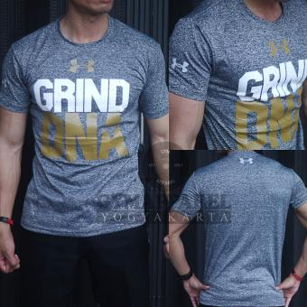 Kaos Tshirt Manset Baselayer Under Armour Grind DNA Misty CheckGold Training  exercise running gym crossfit c0c4fbad3d