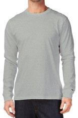 KaosYES Kaos T-shirt O-Neck Lengan Panjang - Abu Misty Muda
