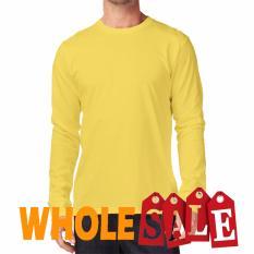 KaosYES Kaos T-Shirt O-Neck Lengan Panjang - Kuning (WholeSale 3pcs)