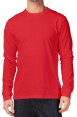 KaosYES Kaos T-shirt O-Neck Lengan Panjang Unisex - Merah