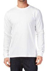 KaosYES Kaos T-Shirt O-Neck Lengan Panjang - Putih