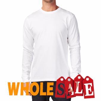 KaosYES Kaos T-Shirt O-Neck Lengan Panjang - Putih (WholeSale 3pcs)