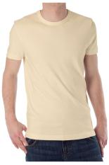 KaosYES Kaos T-Shirt O-Neck Lengan Pendek - Cream Muda