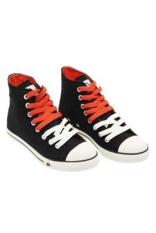 ... Kappa K11bfc917 Simple Hi Sneakers Black Off White Orange