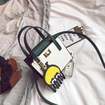 Kecil persegi memukul warna tas baru tas wanita Putih .