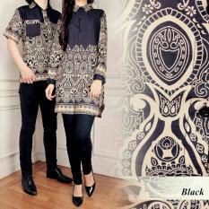 Kedai_Baju Baju Batik Tunik / Batik Pasangan / Batik Couple Sisca Hitam