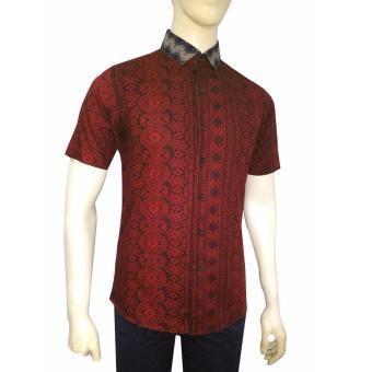 Kemeja Batik Slimfit Pria A7830 Kombinasi Muslim Koko Jeans