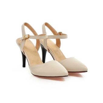 Khalista Collections Women Pumps Point Toe Shoes Bright Slingback 011 - Cream