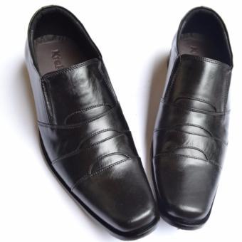 Kickers Sepatu Kulit Sepatu Kerja Formal Pria Branded - SPKA001 - Hitam
