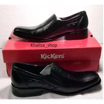 Kickers Sepatu Pria Kulit Asli Model KR 412 Black
