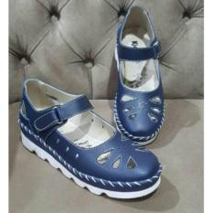 Kickers Women Blue Wedges With Strap