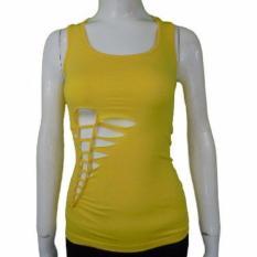 Kira Sports Tanktop Baju Atasan Senam wanita / Tanktop Baju Atasan Olahraga Wanita NAT508-Yel