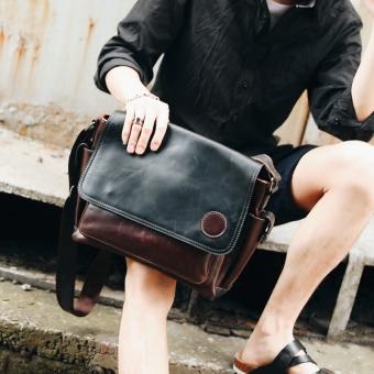 Korea Fashion Style gila kulit kuda tas bahu baru tas pria (PARK'S warna) (
