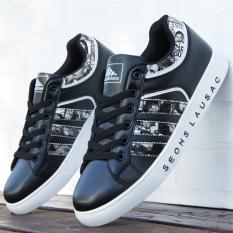 Korea Fashion Style laki-laki sepatu kasual musim gugur sepatu pria (6152 hitam)