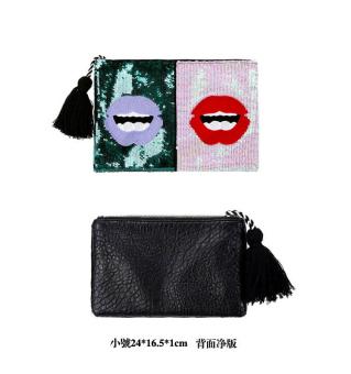 ... Dompet Kain Kecil Tas Source · Korea Fashion Style payet tas tangan bibir merah tas clutch tas Payet kecil