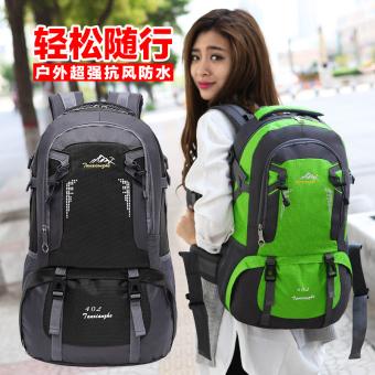 Korea Fashion Style perempuan perjalanan tas ransel luar ruangan tas gunung (Hitam)