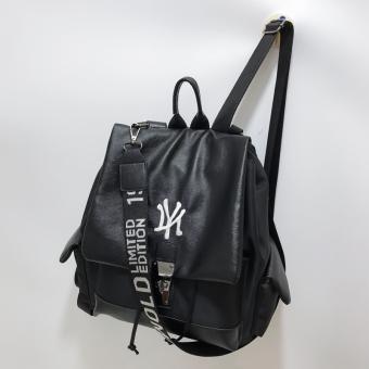Korea Fashion Style tas kapasitas besar tas ransel wanita tas bahu baru (Hitam)