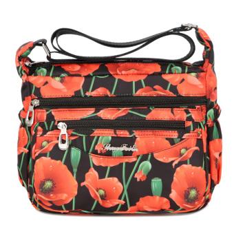 Korea Fashion Style wanita setengah baya setengah baya ibu tas tas wanita  (RAINBOW CONNECTION bunga 586f59d1d7