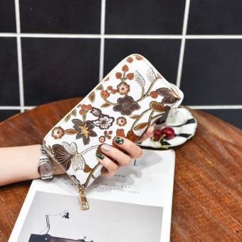 Korea Fashion Style Winnie siswa kapasitas besar clutch tas dompet wanita Imitasi bordir .