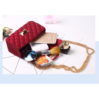 Korea ponsel jaringan Lingge paket Mini Shoulder Diagonal Tas Matte Matte Jelly casing (merah)