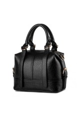 Korean Style Girls Mini Tote Bag Fashion Solid Color WomenTop-Handle Bags Black - Intl - Intl
