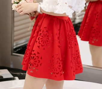 Korean-style Summer Student Tutu dress (Rok merah)