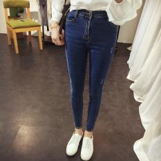 Korean Women Pants Trouser Jean Women Jeans Skinny Jeans Woman High Waist Jeans Femme Sexy Trousers Pants Size S-XL - Intl
