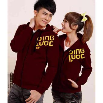 kyoko fashion jaket couple maroon -(maroon)