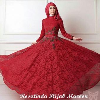 kyoko fashion syari rosalinda maroon .