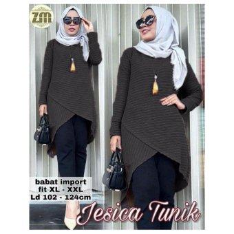 kyoko fashion tunics jesica -(black)