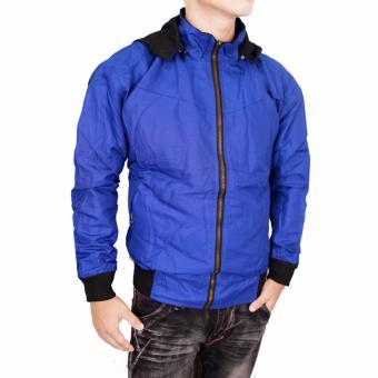 L_S Fashion - Jaket DC BB Parasut Bolak Balik- Biru-hitam keren