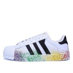 La 1602_W&B Female Fashion Popular Casual Comfortable Daily Sports Shoes (White&Black) - Intl