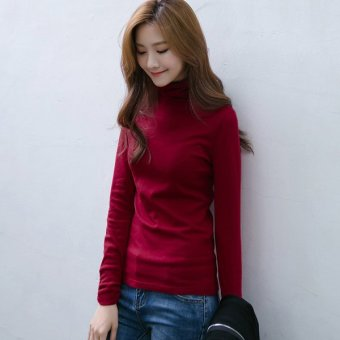 Labelledesign Blouse Turtleneck Alegra - Maroonred