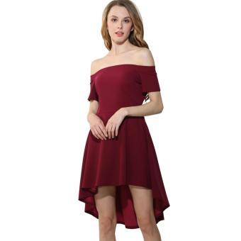 2a4fe580e29 Harga Ladies Summer Dresses Mini Casual Women Office Party Dress ...