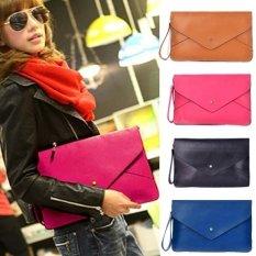 Lady Women Leather Envelope Clutch Shoulder Messenger Tote Purse Handbag Bag NEW - Intl