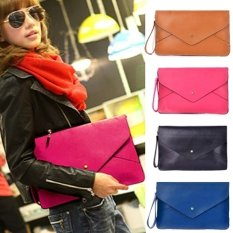 Lady Women Leather Envelope Clutch Shoulder Messenger Tote Purse Handbag Bag NEW