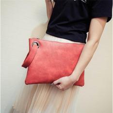 LALANG Fashion Women's Clutch Bag Envelope Bag Evening Handbag Red - intl