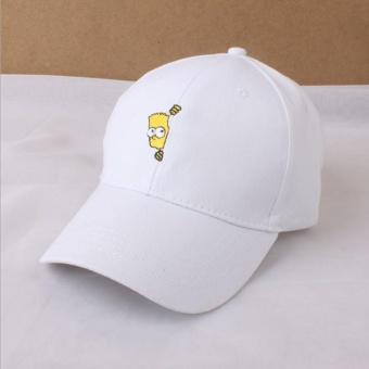 LALANG Kartun Karakter pencetakan mentopiai puncaknya baseball topi (putih)